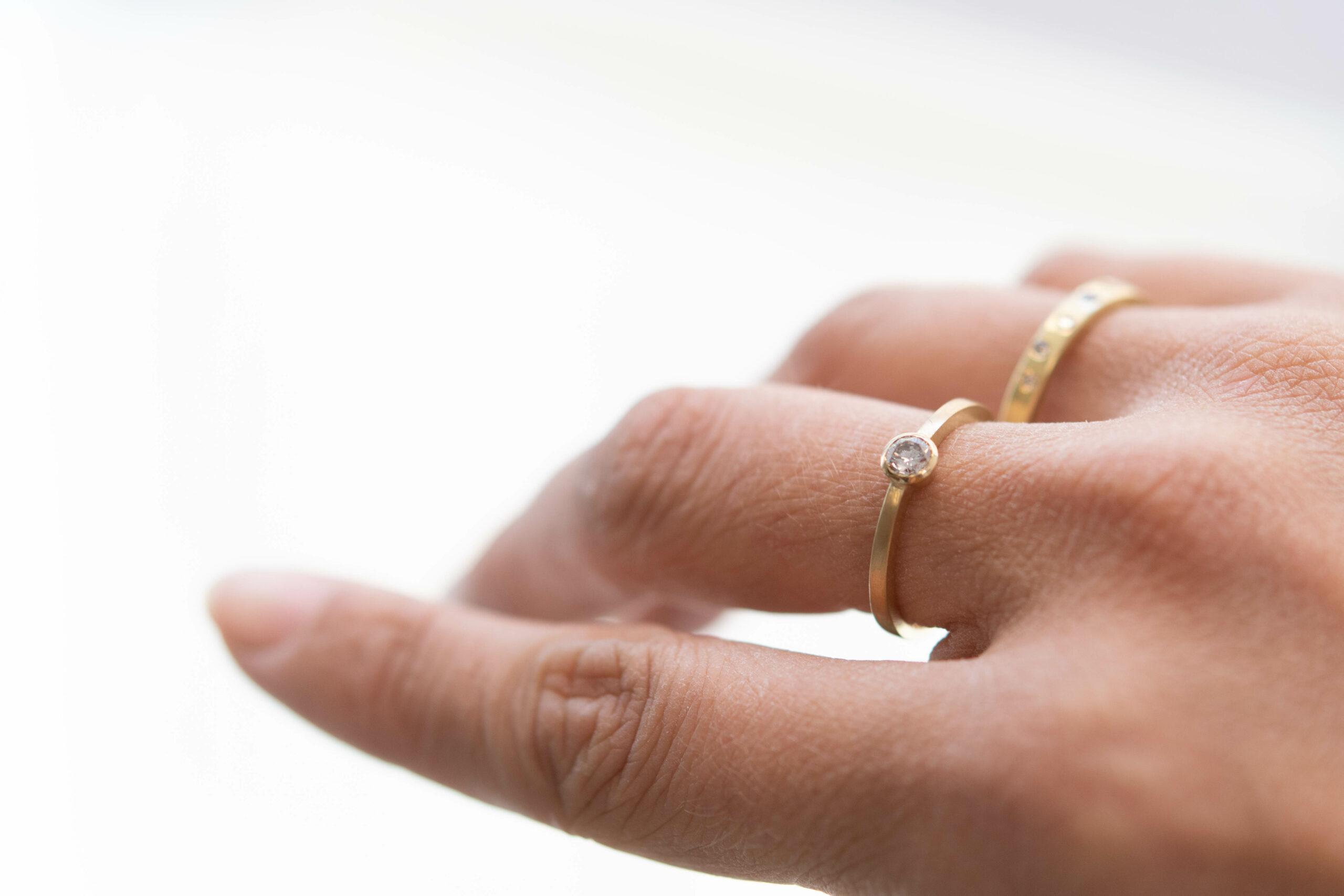 Ring australischer Diamant